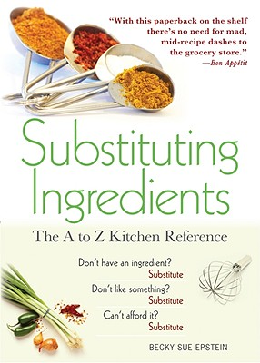 Substituting Ingredients By Epstein, Becky Sue